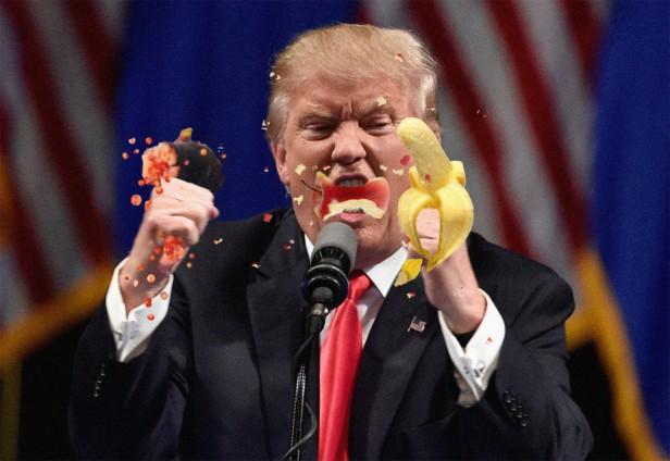 trump-eating-fruit